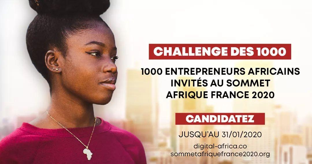 Vous êtes #entrepreneur africain ? Vous portez des solutions innovantes pour favoriser l'émergence de #villes #durables ? Venez les présenter lors du « Challenge des 1000 », à l'occasion du sommet Afrique-France 2020. @FranceauTogo https://t.co/HkRhuVvxdL