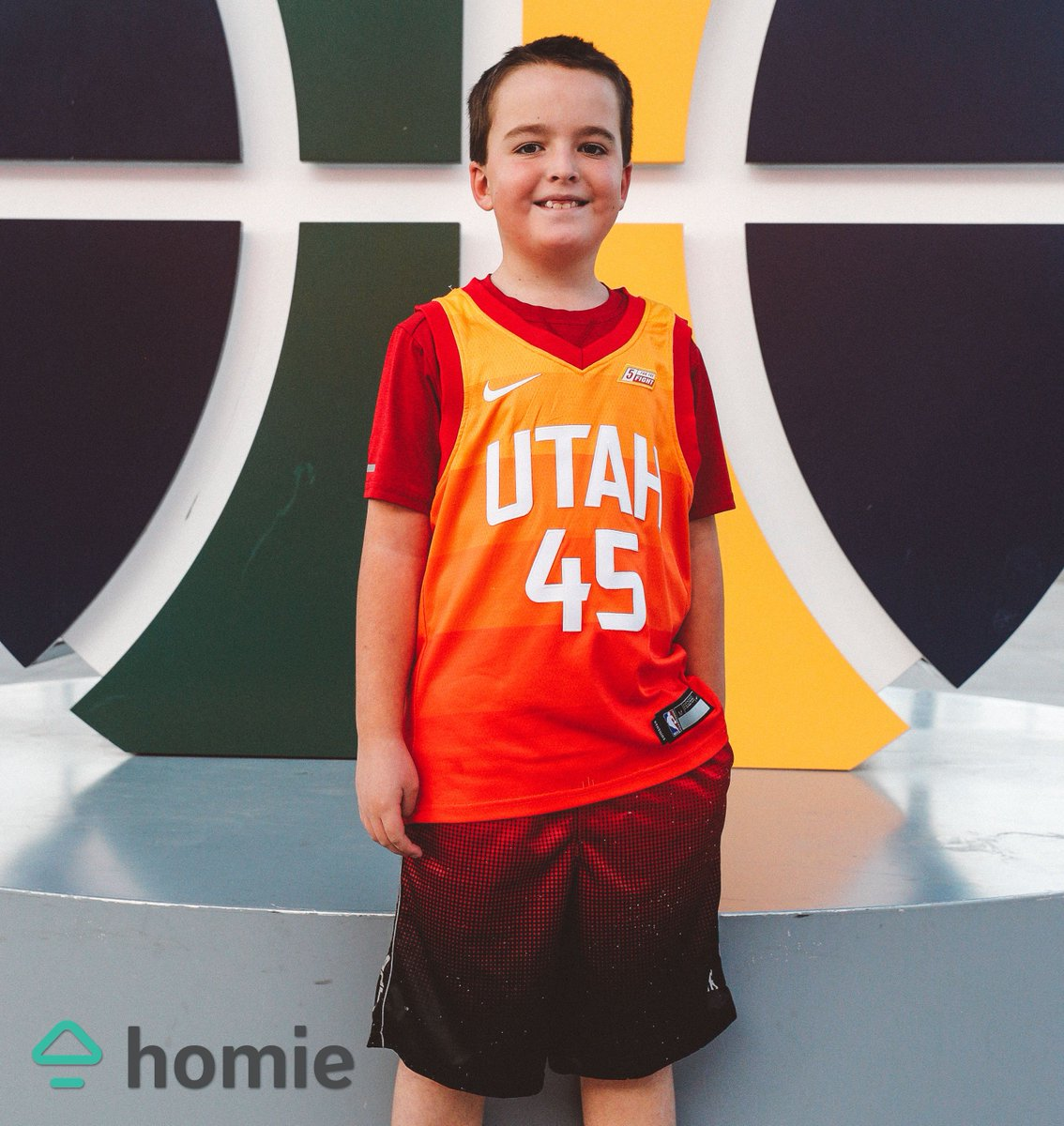 """""""I love the Jazz because they're my hometown team. We watch a lot of games as a family. I like Mike Conley and Joe Ingles and Donovan Mitchell. I like Donovan's dunks. I hope we win a championship."""" — Bridger Buchanan  #ForeverJazz   @TryHomie"""