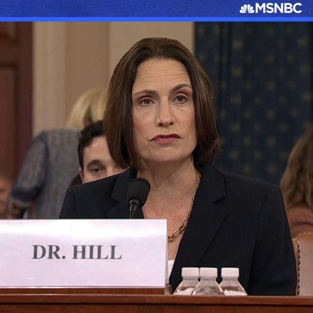 Image for the Tweet beginning: WATCH: Dr. Fiona Hill rebukes