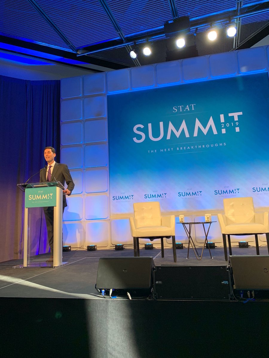This morning, I had the chance to kick off the inaugural @statnews Summit. What a great line up of biopharma researchers, policymakers and patient advocates to discuss advances in science and emerging challenges that we need to address to continue to push forward. #STATSummit