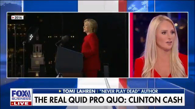 """Coincidence the #ClintonFoundation was bringing in WAY more $$ when #HRC was Secy of State/running for POTUS?! @TomiLahren says this is NO coincidence. """"There was definitely pay-to-play action going on & she was essentially putting up the office & the State Dept. up for sale."""""""