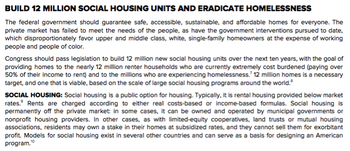 Grassroots leaders came up with every demand in the #HomesGuarantee, including the 12 million units of social housing and the Community Control and Anti-Displacement fund (see the screengrabs). @IlhanMN listened. That is leadership... and you genuinely love to see it.
