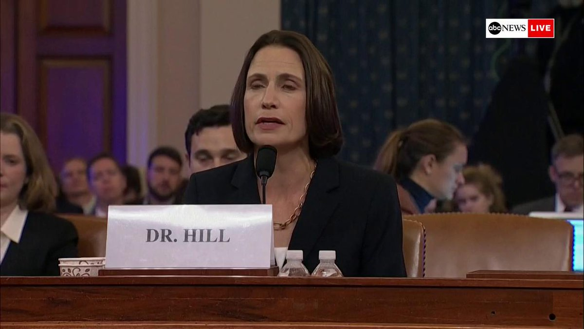 """Fiona Hill says she was """"angry"""" with Amb. Gordon Sondland because he """"wasn't coordinating with us"""" and now realizes """"we weren't doing the same thing.""""   """"He was being involved in a domestic political errand and we were being involved in national security."""""""