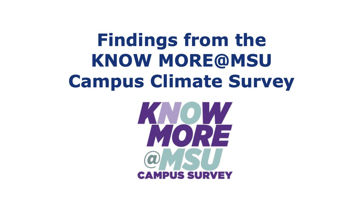 A new report provides insight into @michiganstateu campus climate concerning relationship violence and sexual misconduct. In this survey our #sexualassault and #statistics experts collaborated with MSU in an effort to create a safe and inclusive campus: