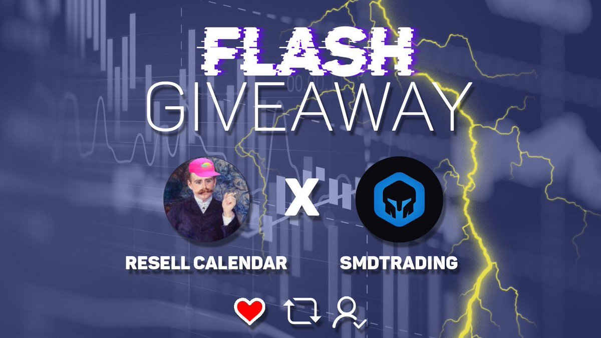 Flash Giveaway   - 2 30 Day SMD Memberships - 1 30 Day Resell Calendar  Rules: 1) Follow @ResellCalendar @smdtrading 2) RT this tweet  3) Cross your fingers   Winners picked in 2 HOURS<br>http://pic.twitter.com/KYLGizMKOO
