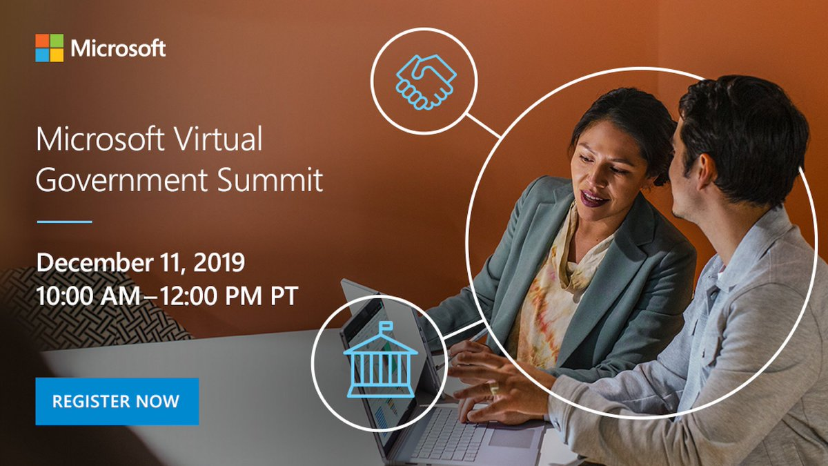Join Microsoft for a live, virtual event and equip yourself with the confidence to lead your #government organization to the next generation of service. Learn more: http://msft.it/6018TpOy2 #MSVirtualGovSummit19
