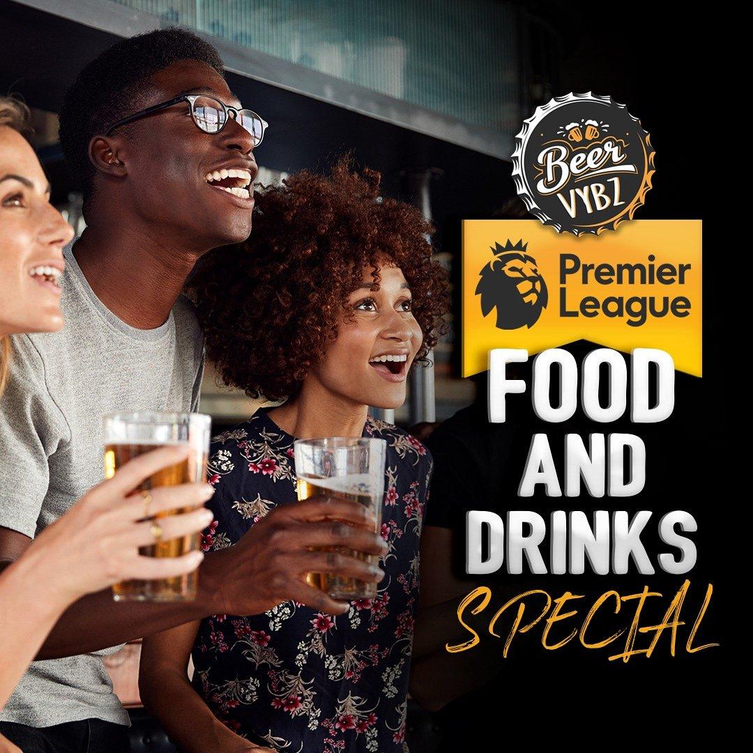 Premier League special ⚽⚽⚽⚽⚽⚽⚽⚽⚽ Come let's eat drink & enjoy the vibe  @bvybztt 🍺🍗🍔🍟 #specials  #drinkspecial...