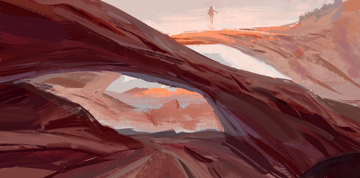 Strange travels Working on super speedy environment painting to throw ideas down quickly <br>http://pic.twitter.com/1f0MUDNI1c