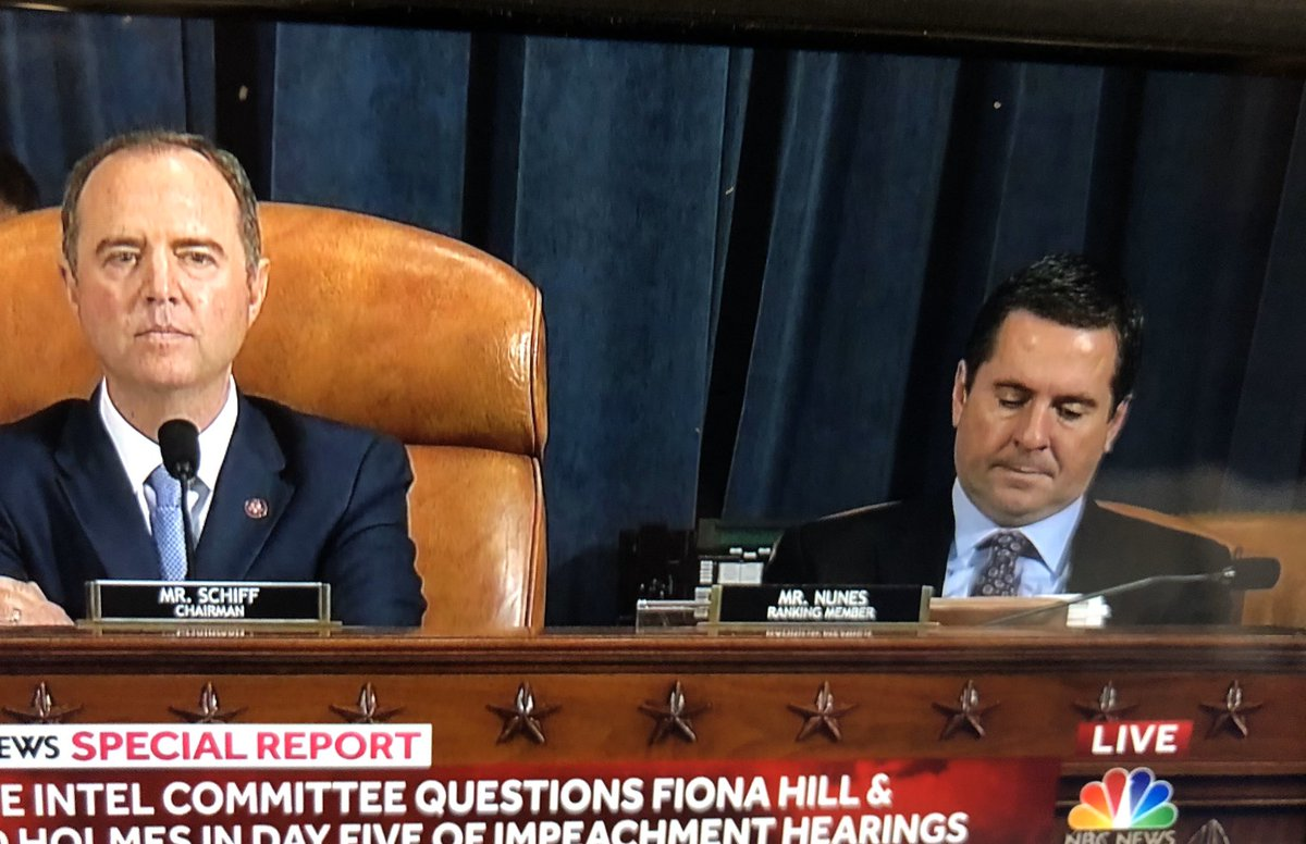 @DevinNunes melts in his chair as @ericswalwell earns a keg of beer for calling out Nunes and reading into the record reports that name Nunes as a co-conspirator alongside Ukrainian con artist Lev Parnas.   🍻🍻🍻🍻DILLY DILLY🍻🍻🍻🍻