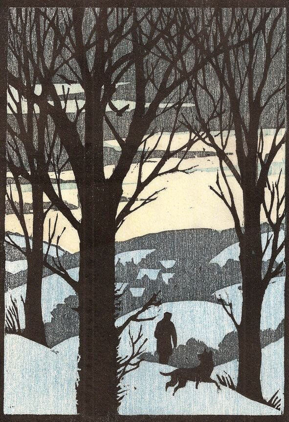 Andrew Davidson (1958 - )  woodcut.