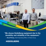 "Image for the Tweet beginning: ""We choose Heidelberg equipment due"
