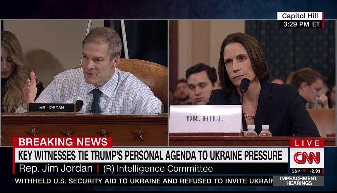 Dr. Hill does not seem particularly impressed with Rep. Jordan.