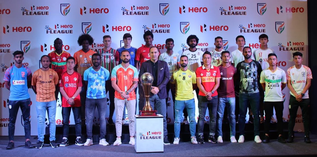 Nice to be at launch of the @ILeagueOfficial in New Delhi. I wish all the teams and players the very best for the season ahead. I'll closely watch both @IndSuperLeague as well as @ILeagueOfficial for our @IndianFootball team. #BackTheBlue #Budiponosan 🙏🏼🇮🇳⚽️