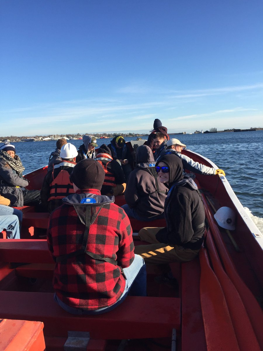 Cohort 8 and 9 getting some boat time sign-offs aboard the NMI Lifeboat.#collegeofmaritimescience #honorthemariner #maritime #maritimeeducation