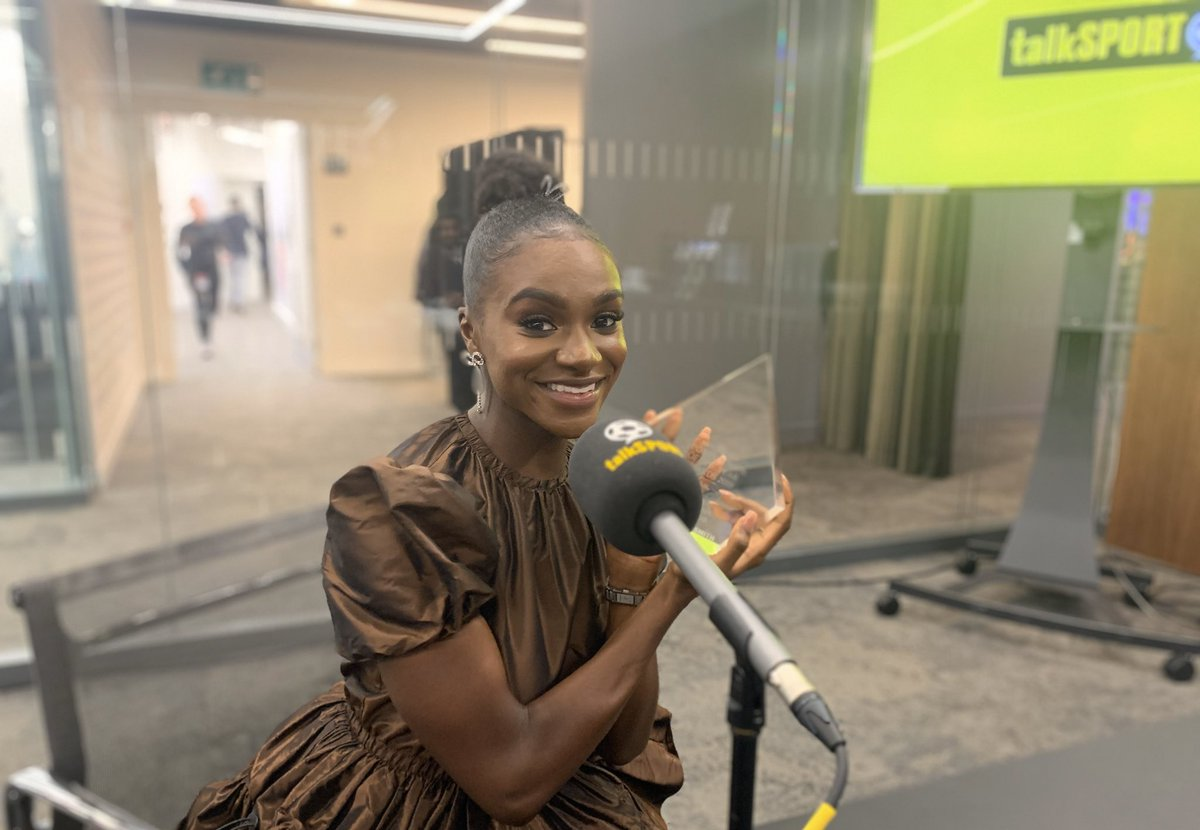 NOW: @DinaAsherSmith joins us The #SWOTY 2019 winner 🏆 She'll be discussing: 🔺 Her incredible year 🔺 Stunning achievements 🔺 Women who inspire her 🔺 Being a role model ➕ Plus so much more 📻 Listen → tlks.pt/ListenLive