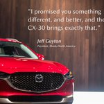 Image for the Tweet beginning: The first-ever Mazda CX-30 makes