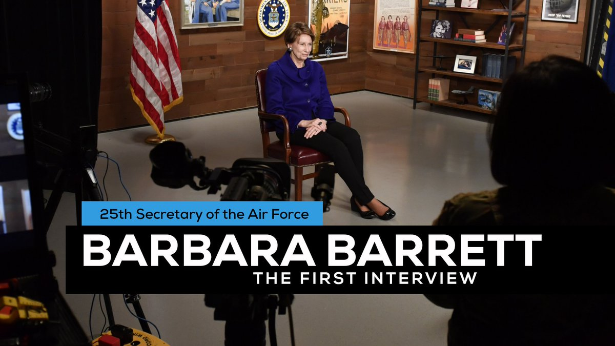 Want to know more about @SecAFOfficial Barbara Barrett? Read on to hear her story. airman.dodlive.mil/2019/11/21/25t…