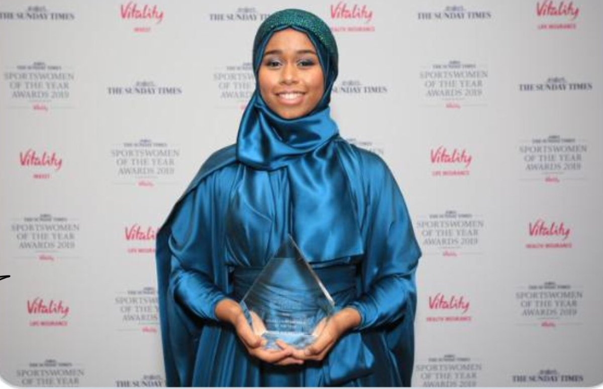 So very proud of @KhadijahMellah for win tonight at #SWOTY2019. She is a terrific young person who represents her generation with such positivity. #inspiring