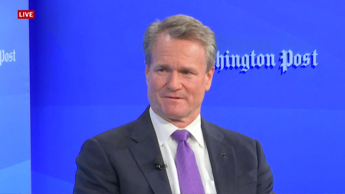 """Bank of America CEO Brian Moynihan on affecting change on a global scale: """"You have to listen to your customers, and your team, and the communities you operate in…These are not new concepts."""" youtu.be/6G33LvXVN0U #postlive"""