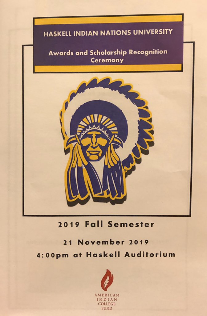 RT @TrioHaskell: Happening now at Haskell auditorium! Handing out 141 student awards today! #OnwardHaskell https://t.co/T9Lwo23svz