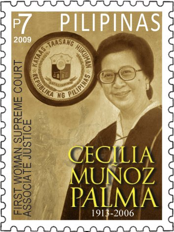 Born on this day in 1913, Cecilia Muñoz-Palma, the first woman appointed to the Supreme Court of the Philippines