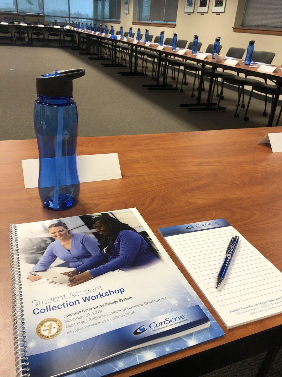 Great @ConServeARM University at Colorado Community College System! Thank you to everyone for great networking and sharing your schools best practices! #training #FosteringFinancialFreedom