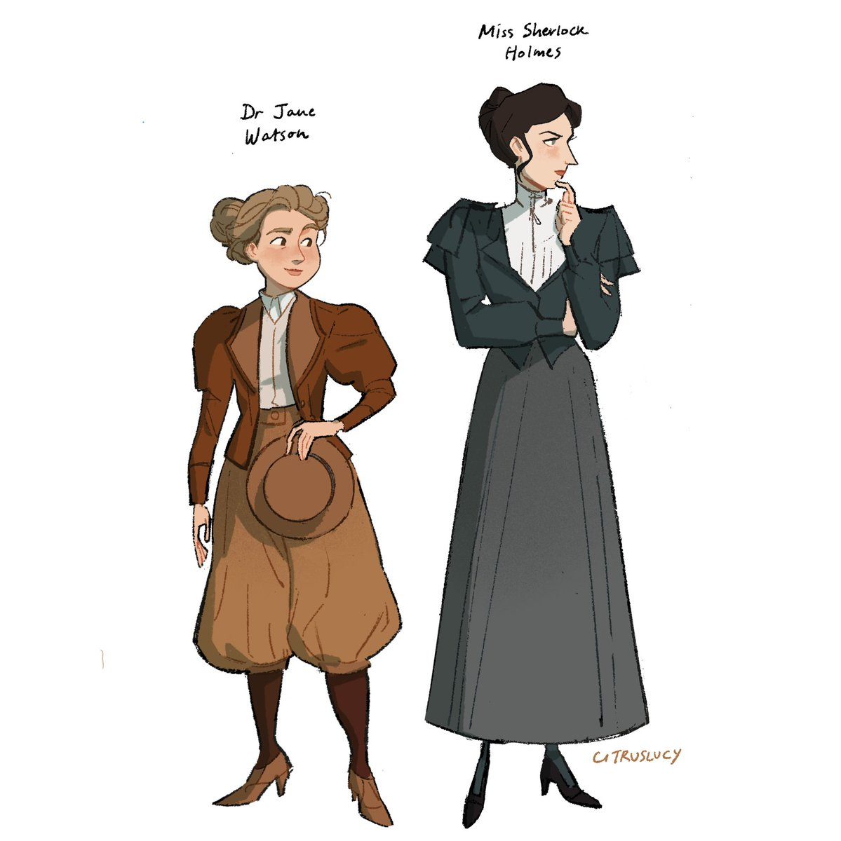 RT @citruslucy: my take on sherlock holmes and dr watson for a personal project 🕵️♀️ https://t.co/MZr1cwzqLw