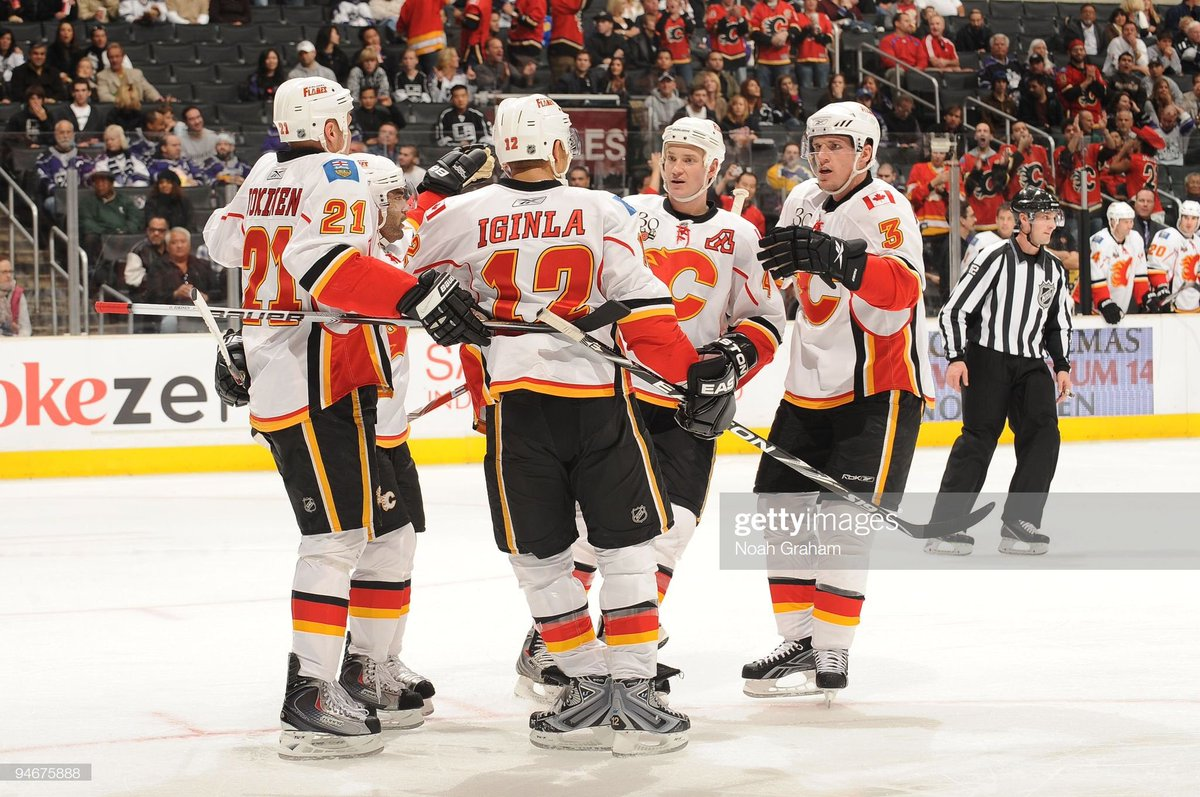 Last time the Flames scored the first goal. #TBT