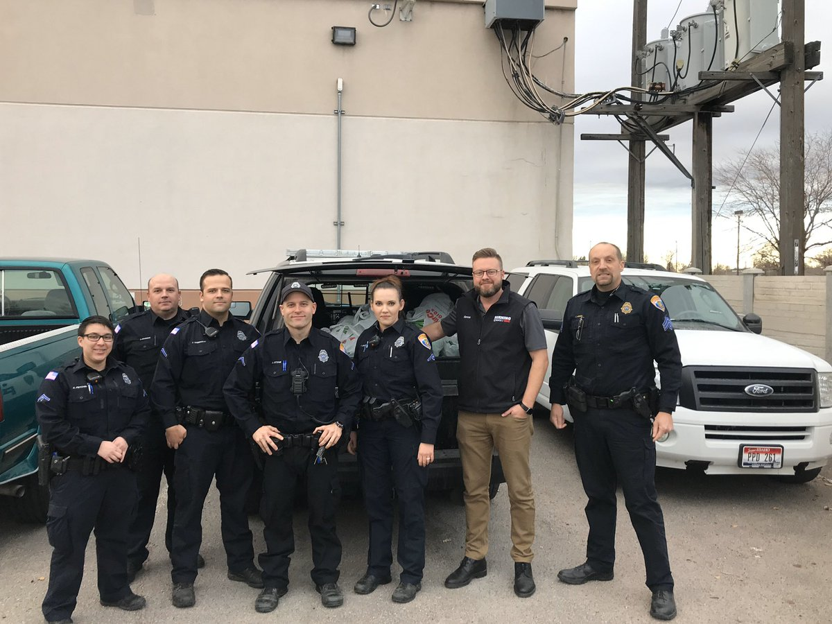 pocatello police a twitter thanks hirning buick gmc for giving the cops the bird 20 total we have such a great community in pocatello we are up to 85 donated turkeys keep twitter
