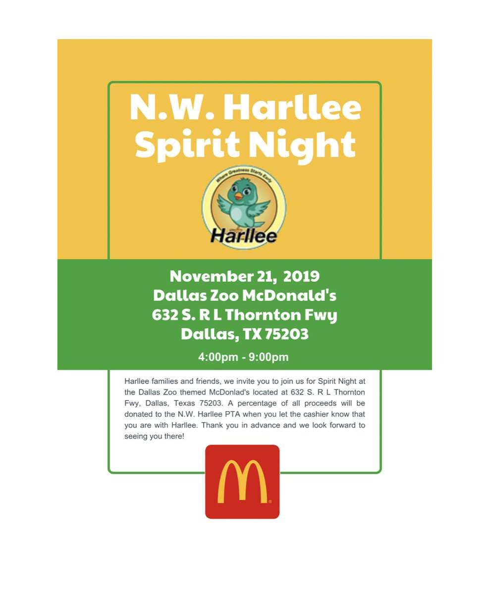 It's not too late come join us at our Spirit Night @McDonalds!
