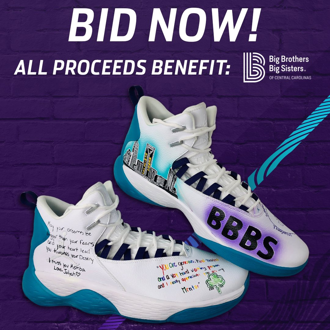 Here's your chance to own a pair of game worn shoes and help a great cause! All of the proceeds from this auction goes to @bbbscc  https://www.32auctions.com/BBBSKembaShoes
