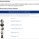Image for the Tweet beginning: @andreafed @Flaminglunatic1 @joniernst Dem candidates