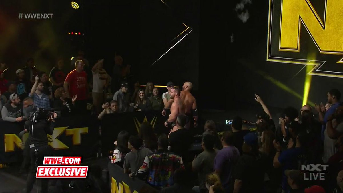 EXCLUSIVE: The NXT Universe gave it up for #TheRevival after their battle against #UndisputedERA on #WWENXT.