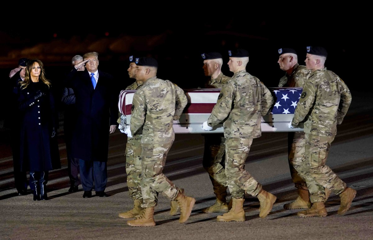 President Trump and first lady pay respects to Army officers killed in Afghanistan crash…