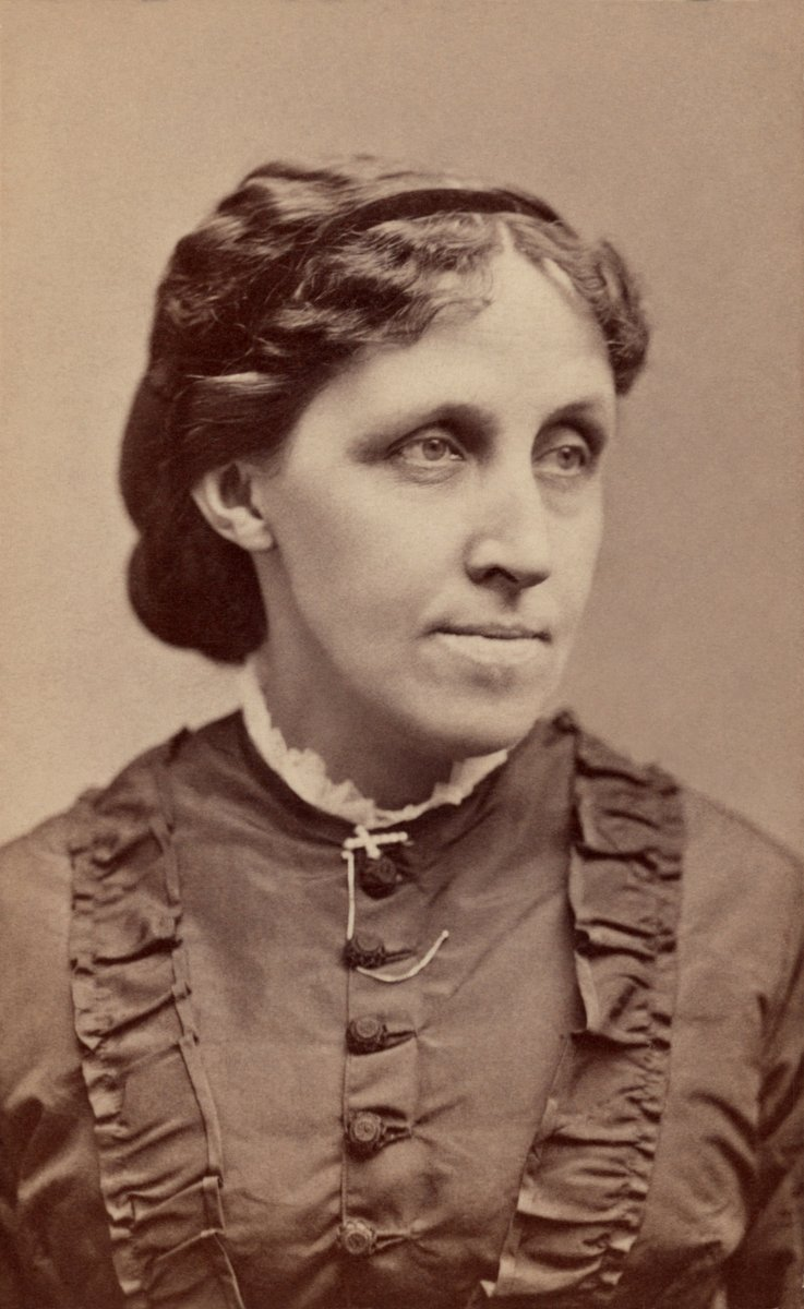 "Born on this day in 1832, novelist, short story writer and poet Louisa May Alcott. ""Let my name stand among those who are willing to bear ridicule and reproach for the truth's sake, and so earn some right to rejoice when the victory is won."""