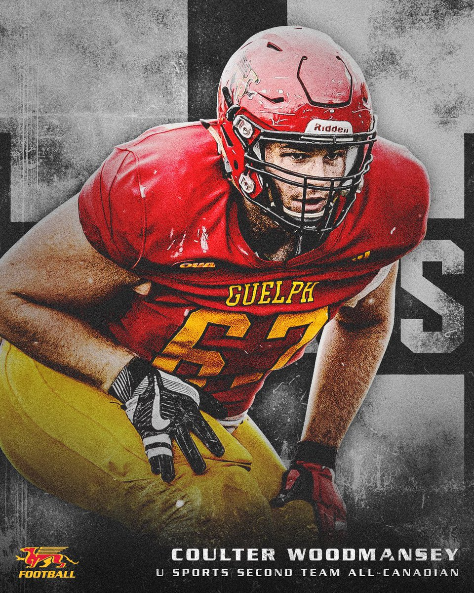 """GryphonFootball on Twitter: """"🚨 ALL-CANADIAN 🚨 Coulter Woodmansey ..."""