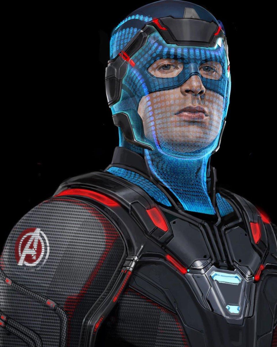 Captain America is wearing an alternate design of the Quantum suit in this official #AvengersEndgame unused concept art! (via @MeinerdingArt)