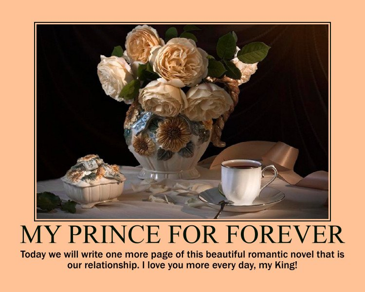 ❤ Today we will write one more page of this beautiful romantic novel that is our relationship. I love you more every day, my King! #ThinkingOfMyHeart #HeLovesYou  #FriendsForTheGoodTimes #BabeImFallingForYou #HomeOfMyTomorrow #YourLadyDreams #MomentForTheMemories #ForeverInLove