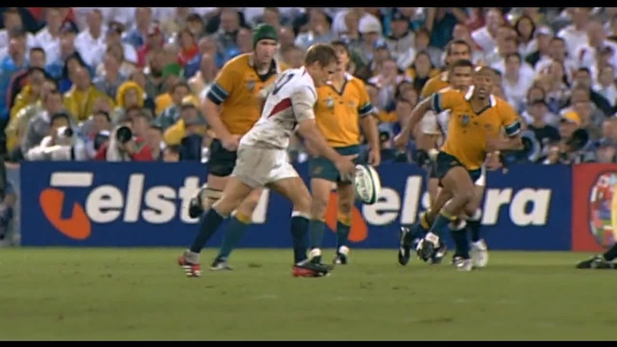 On this day in 2003, Jonny Wilkinsons right foot gave @EnglandRugby their first Rugby World Cup win #RWC2003 #WebbEllisCup