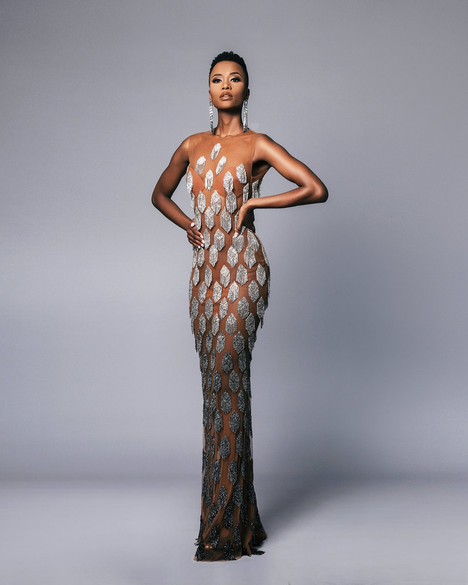 Looking like an African goddess, Zozi is breathtaking in @Biji_LaMaison   This is just one of the exceptional local designs that Zozi will take with her to Atlanta for Miss Universe.   #ZoziForMissUniverse #MissUniverse https://t.co/uCmjhqoAEC