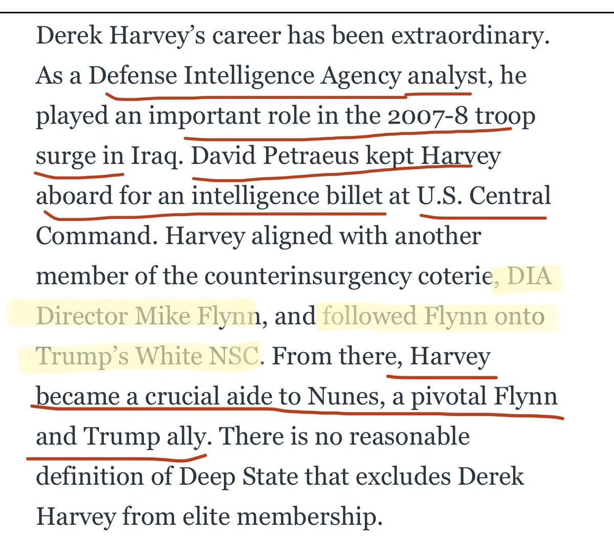 """💥Derek Harvey, a loyalist of General Flynn, he has a history of passing on information to damage colleagues. The """"Derek notes,"""" contained descriptions of State Department officials suspected of disloyalty or troublesomeness.... cc @MingGao26"""