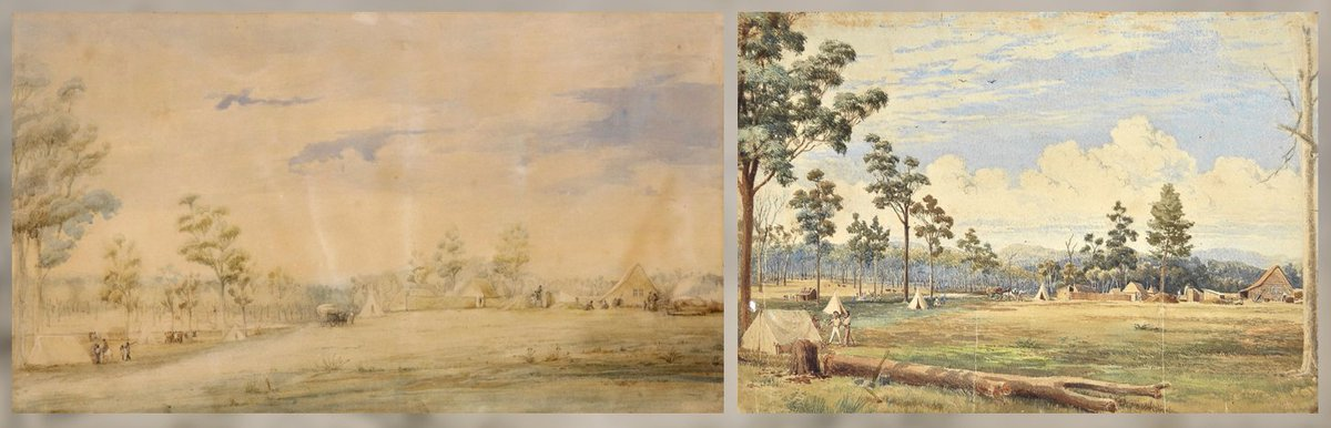 Same scene, from the same spot, from the same era... but is it by the same artist? On @TodayTonightSA, the mystery around the colonial watercolour from Adelaide's early history. Details right after @7NewsAdelaide. https://t.co/ZpqrjVwLbs