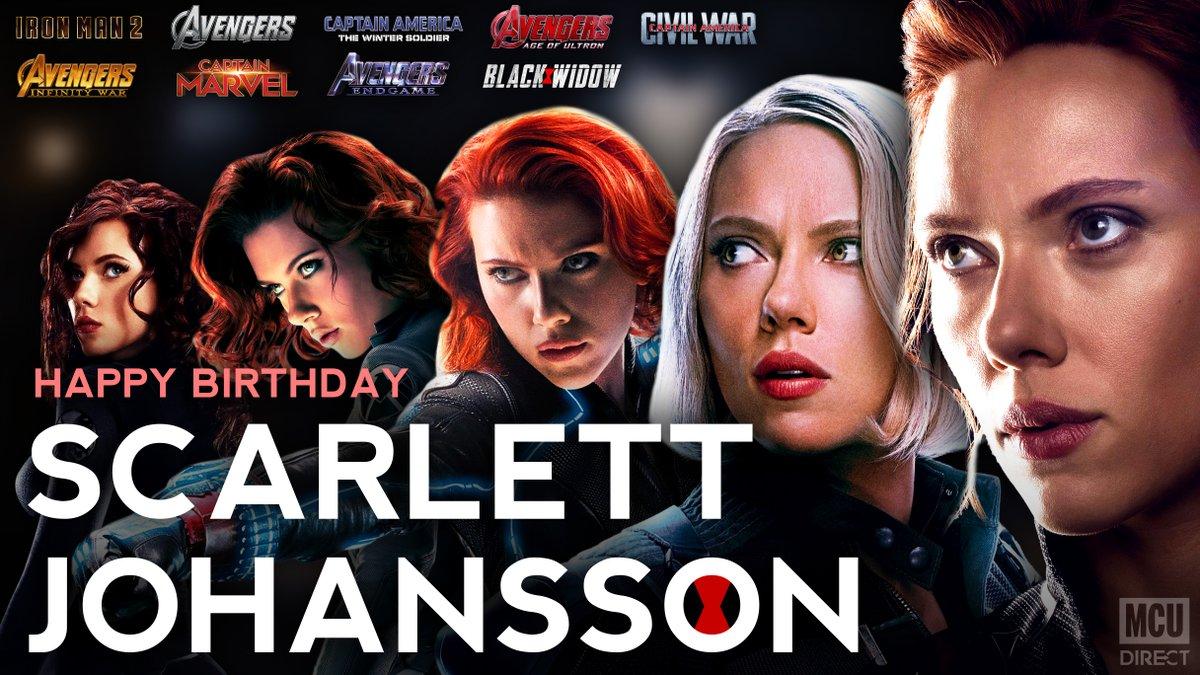 Wishing a very happy 35th birthday to the MCUs #BlackWidow, actress Scarlett Johansson!