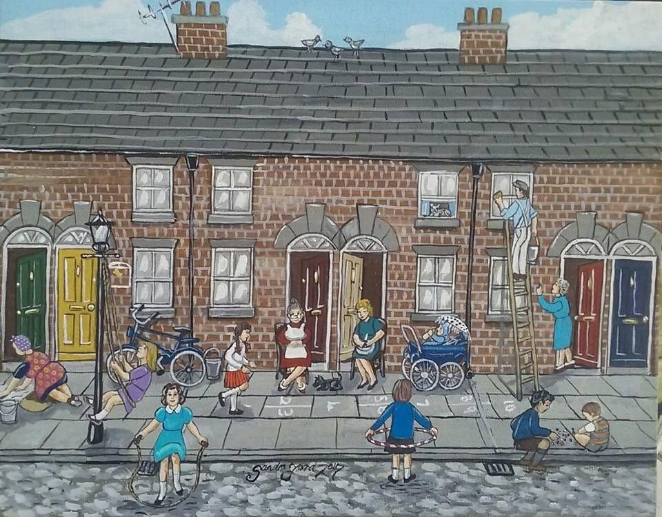 British nostalgic #paintings by Sandra Chapman Ford