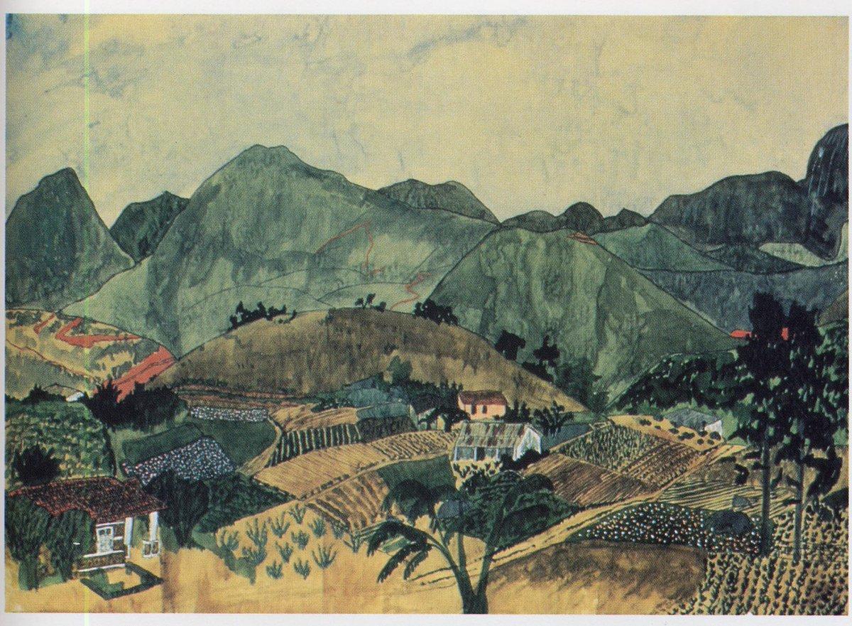 Brazilian Landscape (c.1960) by US poet Elizabeth Bishop, view from her home shared with partner, architect Lota de Macedo Soares #womensart