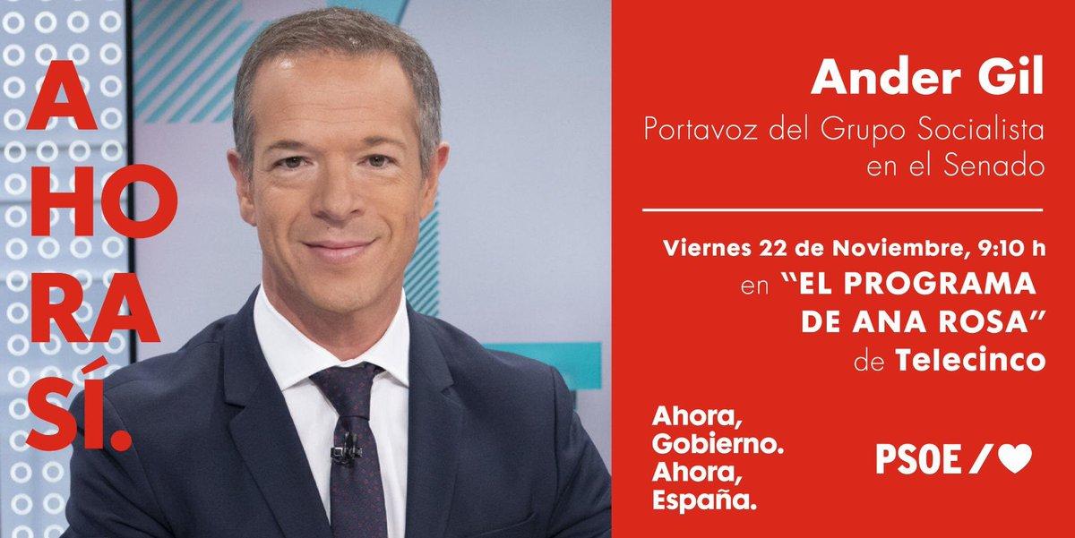 #BuenosDias 📺No te pierdas a @Ander_Gil en @elprogramadear a partir de las 9:10 horas.
