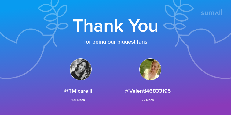Our biggest fans this week: TMicarelli, Valenti468...
