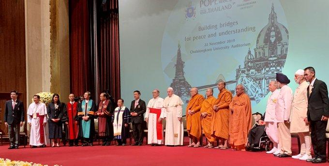 Francisco, con los líderes religiosos de Tailandia
