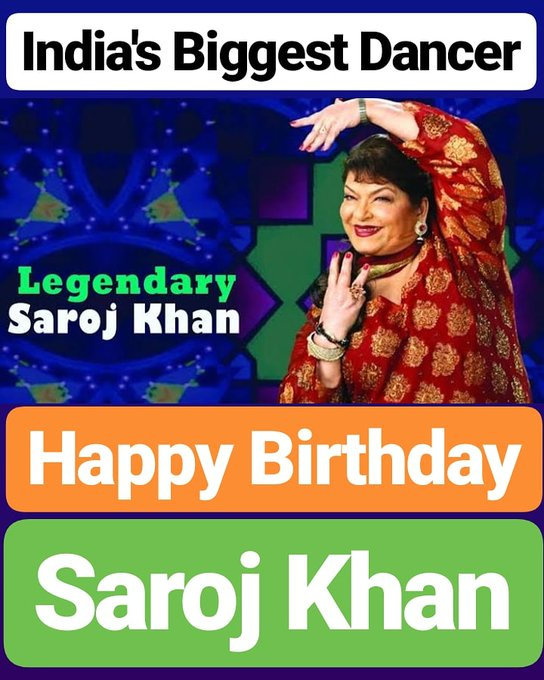 Happy Birthday  Saroj Khan
