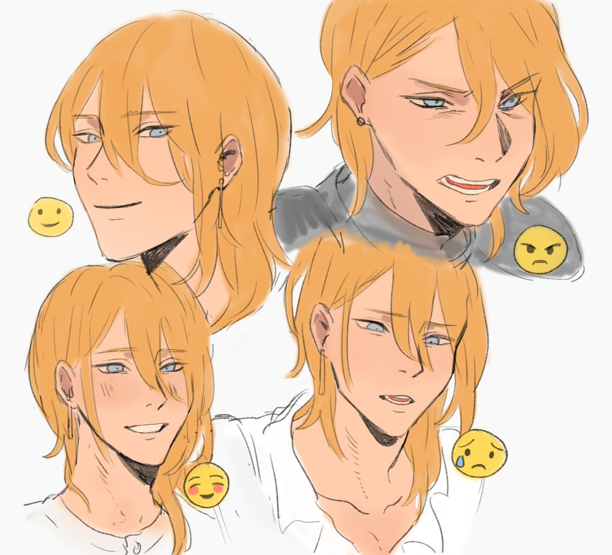kou and ryo faces! edited kou's to make his face look more angular compared to ryo's <br>http://pic.twitter.com/fQFWmFDwUl